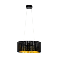Світильник підвіс Eglo 98313 3х40W E27 чорний/золото 'Варілас'