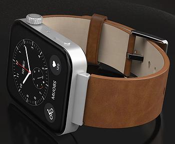 Кожаный ремешок Primo Mijobsдля смарт часов Xiaomi Mi Watch - Light Brown