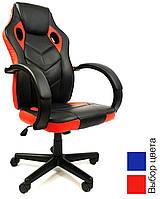 Кресло офисное компьютерное игровое 7F RACER EVO геймерское (офісне крісло комп'ютерне геймерське) Черно-красный