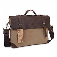 Мужская тканевая сумка BUG Коричневый (TB341-KH) КОД: TB341-KH