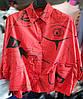 Стильная женская рубашка оверсайз 44-50 (в расцветках), фото 4