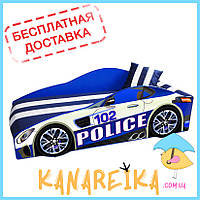 Детская кровать-машина Police Elite в 2 цветах