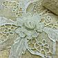 Набор махровых полотенец «Цветочное кружево» из 2шт. лицевое и банное , молочный, фото 3