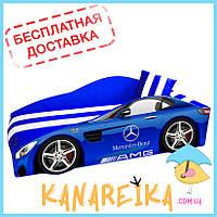 Детская кровать машина Mercedes Elite в 2 цветах (матрас и не только входят в стоимость, доставка бесплатная!)