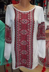 Женские вышитые вязанные блузы