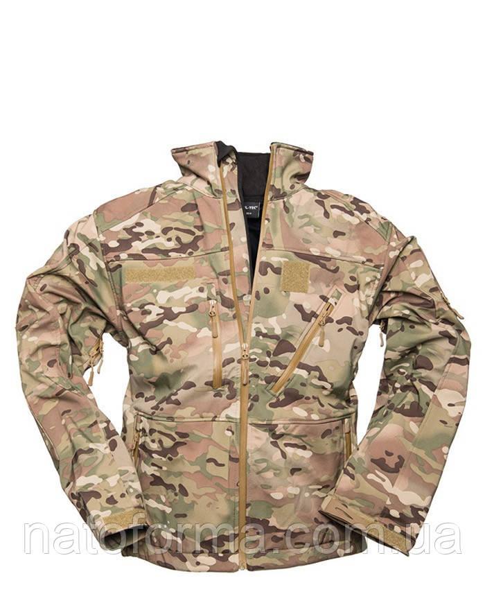 Куртка Soft Shell Mil-Tec, SCU 14, Multicam