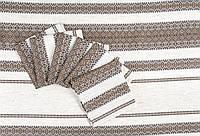 Комплект столовий(скатертина+6 серветок) бежевий