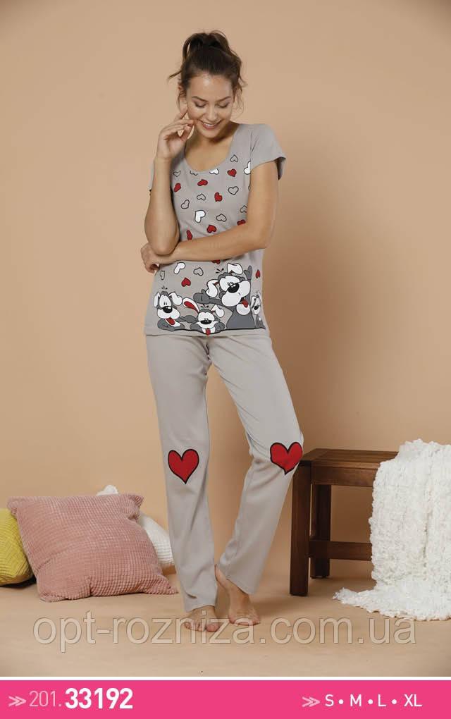 Турецкие пижамы для женщин футболка и штаны