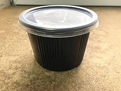 Одноразовый судок с крышкой 500 мл сметанник