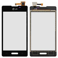 Touchscreen (сенсорный экран) для LG Optimus L5 E450/E460, оригинал (черный)