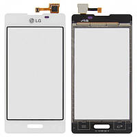 Touchscreen (сенсорный экран) для LG Optimus L5 E450/E460, оригинал (белый)