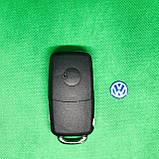 Корпус выкидного авто ключа для VOLKSWAGEN Passat, Caddy, Jetta, Golf (Фольксваген Пассат, Кадді) 3 - кнопки, фото 2