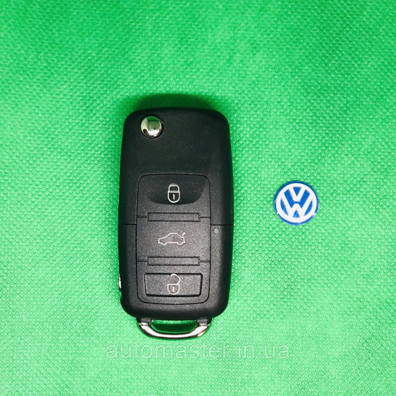 Корпус выкидного авто ключа для VOLKSWAGEN Passat, Caddy, Jetta, Golf (Фольксваген Пассат, Кадді) 3 - кнопки