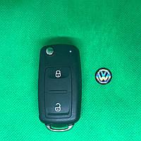 Корпус выкидного ключа для VOLKSWAGEN (Фольксваген) с 2010 года, 2 - кнопки