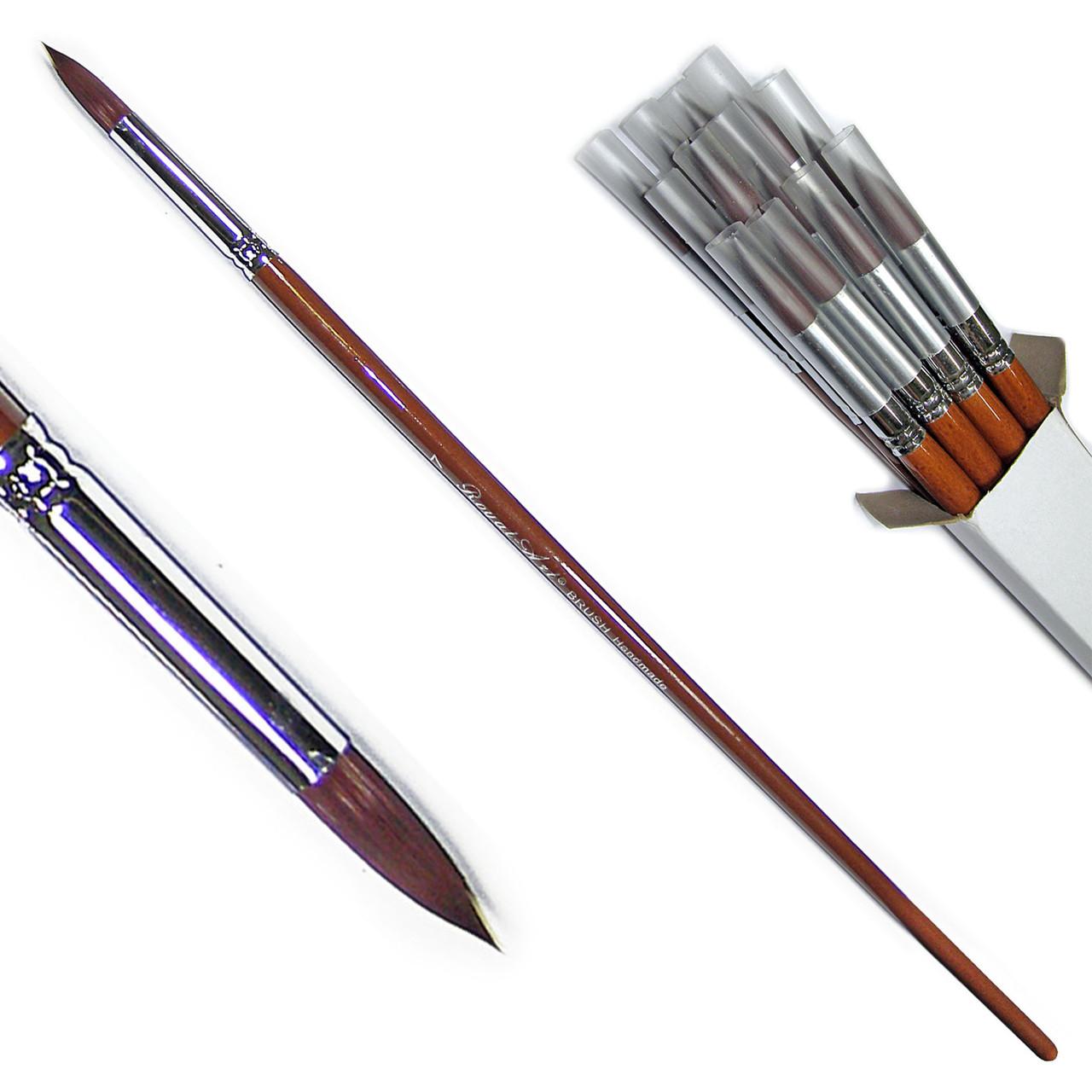 Кисти НЕЙЛОН - №07, RA9127#7, круглые, длинная ручка.