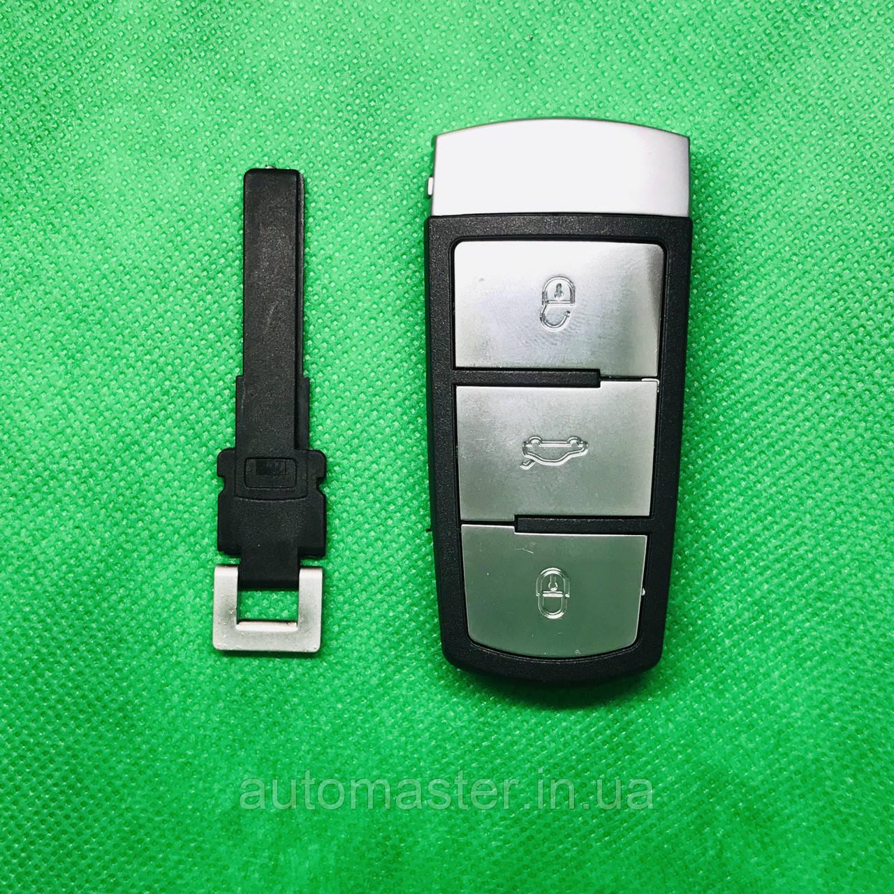 Корпус смарт ключа VOLKSWAGEN Passat (Фольксваген Пассат)  B6,B7,CC 3 - кнопки