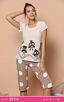 Молодежные пижамы с бриджами, фото 1