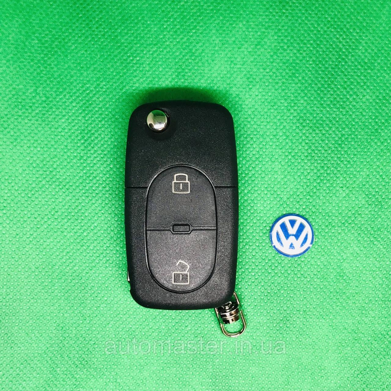 Корпус выкидного авто ключа  Volkswagen Фольксваген Passat Пассат Бора Поло 2 кнопки
