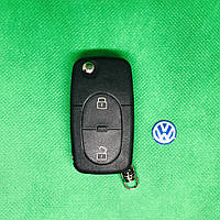 Корпус выкидного авто ключа  Volkswagen Фольксваген Passat Пассат Бора Поло 2 кнопки, фото 1