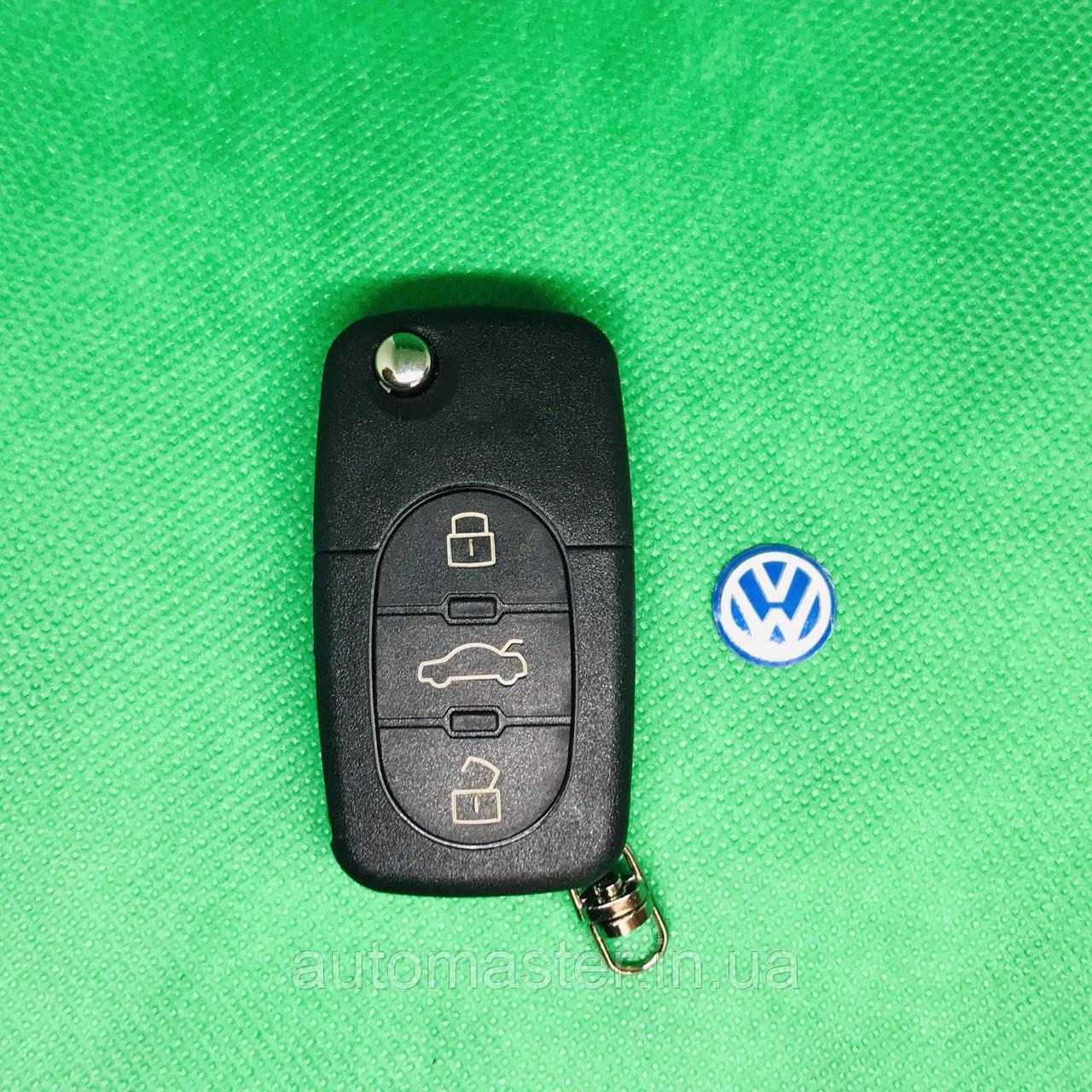 Корпус выкидного авто ключа Volkswagen Фольксваген Passat Пассат Бора Поло 3 кнопки