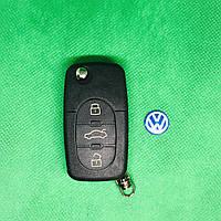 Корпус выкидного авто ключа Volkswagen Фольксваген Passat Пассат Бора Поло 3 кнопки, фото 1