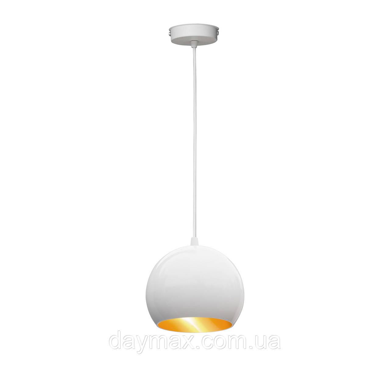 Светильник подвесной Msk Electric  Шар  NL 1512 WH+GD ширина 150mm