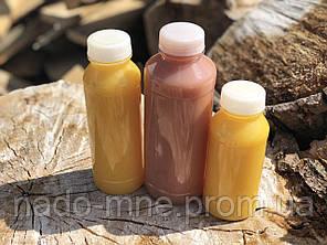 Бутылка пластиковая под соки, с широким горлом 250 мл. Доставка по Киеву от 50 штук в упаковке. желтая