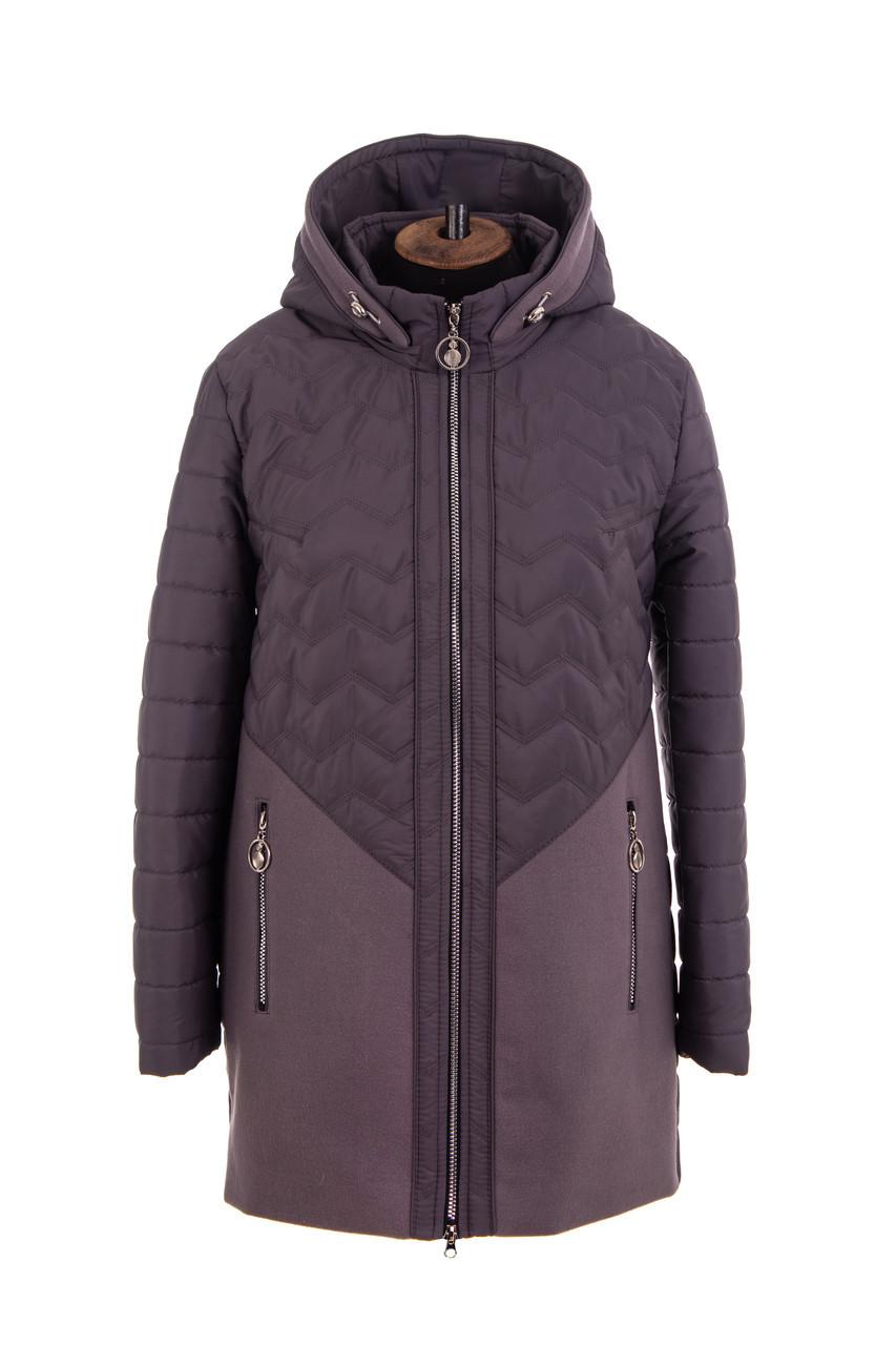 Женская весенняя куртка  больших размеров 54-62 темная пудра