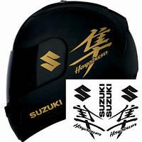 """Виниловые наклейки на мотоциклетный шлем """"Suzuki Hayabusa"""""""