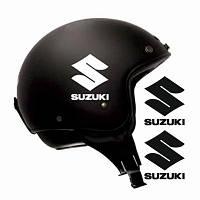 """Виниловые наклейки на мотоциклетный шлем """"Suzuki S"""" 2 шт."""