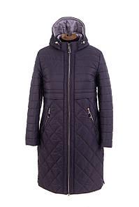 Женская демисезонная куртка  больших размеров 50-58 серо-синий