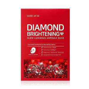 Осветляющая ампульная маска с алмазной пудрой SOME BY MI Diamond Brightening Calming Glow Luminous Ampoule Mas