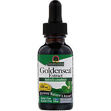 "Экстракт желтокорня Nature's Answer ""Goldenseal Extract"" без спирта, 500 мг (30 мл)"