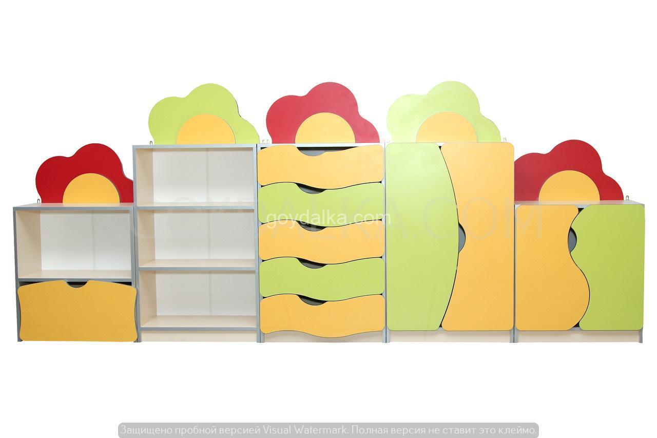Стенка для игровой комнаты «Цветочная поляна»