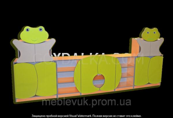 Стенка для игровой комнаты «Лягушонок»