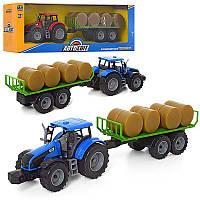 Детский трактор инерционный с прицепом AS-2014
