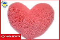 Большое плюшевое сердце 75 см розовое, фото 1
