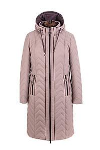 Женская демисезонная куртка  больших размеров 50-58 бежевый