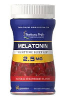 Мелатонин Puritans Pride Melatonin Gummy 2.5 mg Strawberry Flavor, 60 Gummies, фото 1