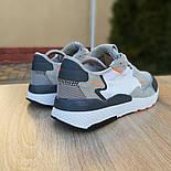 Чоловічі кросівки Adidas Nite Jogger білі з темно-сірим. Живе фото. Репліка, фото 7