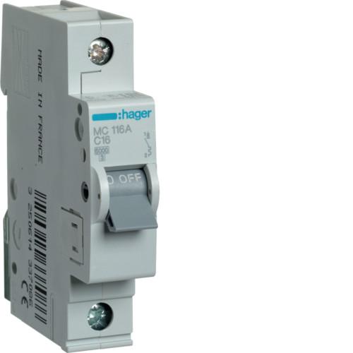 Автоматичні вимикачі від 0.5А до 63А C 1P