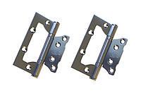 Дверные петли RDA EUROCENTO 2BB (ПАРА) 100x39x2.5mm SC - матовый хром STEEL