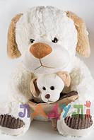 Мягкая игрушка музыкальная Собачка со щенком