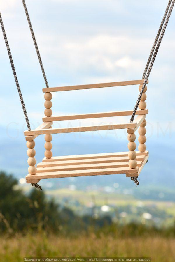 Качели деревянные-2 (со спинкой)