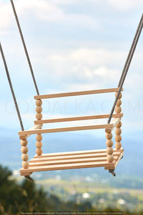 Качели деревянные-2 (со спинкой), фото 2