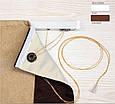 Римская штора рогожка блэкаут, бежевый, система Лайт, фото 2