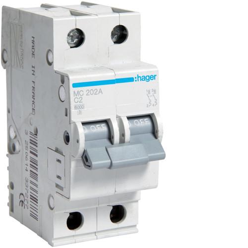 Автоматичні вимикачі від 0.5А до 63А C 2P