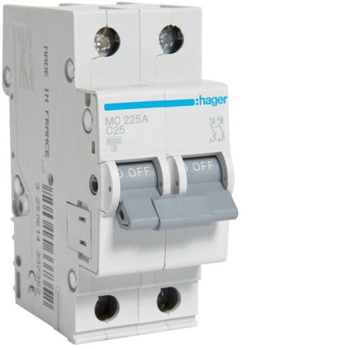 Автоматичні вимикачі від 0.5 А до 63А C 2P