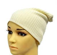 Стильная вязанная шапка из резинки