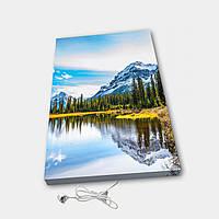 Обогреватель настенный электрический инфракрасный картина ионизация АртТепло Горы 3